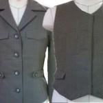 ジャケットからベストへのリフォーム例