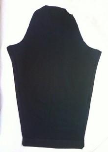 タックドスリーブの袖はこんな形